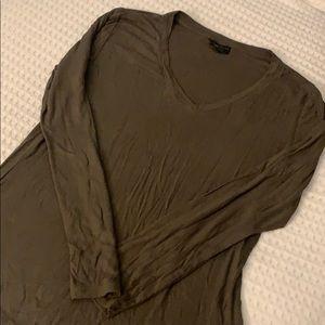 APT. 9 Size Large Olive Long Sleeve Blouse